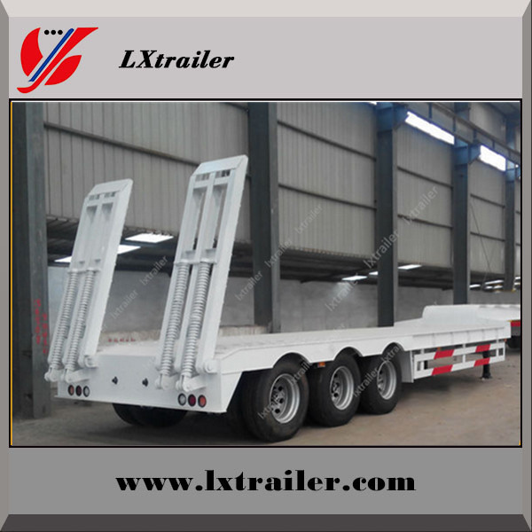 Heavy duty low bed trailer truck/motorcycle cargo trailer