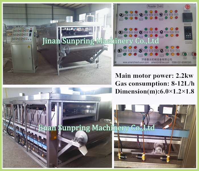 Jinan Sunpring Twin Screw Automatic Corn Flakes/Breakfast Cereals Machine/Extruder/Processing Line With CE