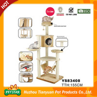 Removable Plush Bed Luxury Indoor Cardboard Cat House, Indoor Cat House