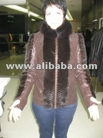 Ladies' exclusive fur & leather jacket