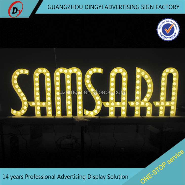Outdoors waterproof solar advertising sign/acrylic face lit led letter