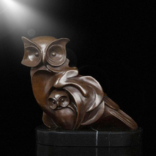 Indoor home decoration art design metal statues bronze owl sculpture for sale