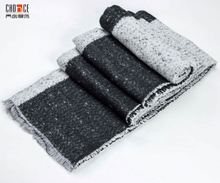 Unisex Black and White Knit Simple Shawl Scarf Contrast Color Classical Poncho scarf