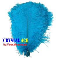 Turquoise blue Elegant plume crafts wholesale dyed large ostrich feathers