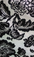 flocking organza fabric