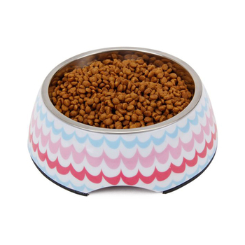 New factory price stainless steel elevated pet thermal serving bowl