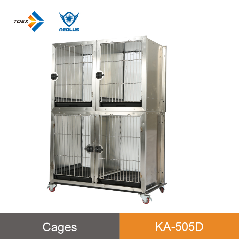 KA-505DKISS Grooming Wholesale cost effective suite condo pet dog display cage with tempered glass