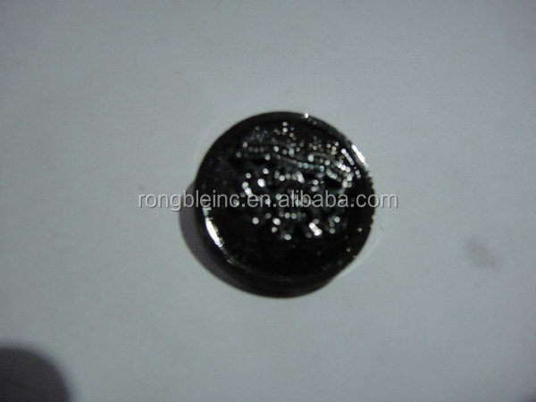 Super quality best selling plain metal button in gold finish