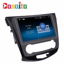 "DASAITA android 7.1 10.2"" Quad Core car dvd player multimedia gps navigation system auto radio with WIFI for Nissan Qashqai"