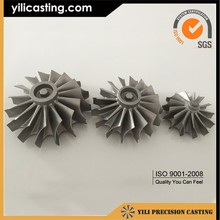China supplier Marine turbocharger vacuum casting nickel based alloy turbine wheel