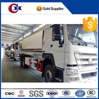 China howo 6x4 25000L fuel tank truck petroleum oil tanker truck for sale