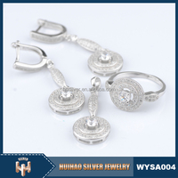 micro pave set CZ 925 sterling silver fashion jewelry wholesale