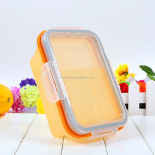 Heatable easy wash silicone thermal personalized food containers