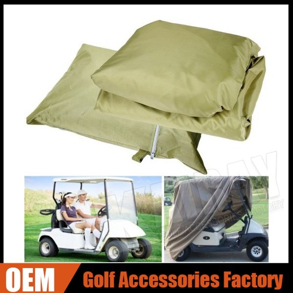 Wholesale 4 Passenger Golf Cart Cover Fits EZ GO, Club Car, Taupe