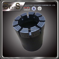 Long life durable vacuum brazed diamond core drill bit