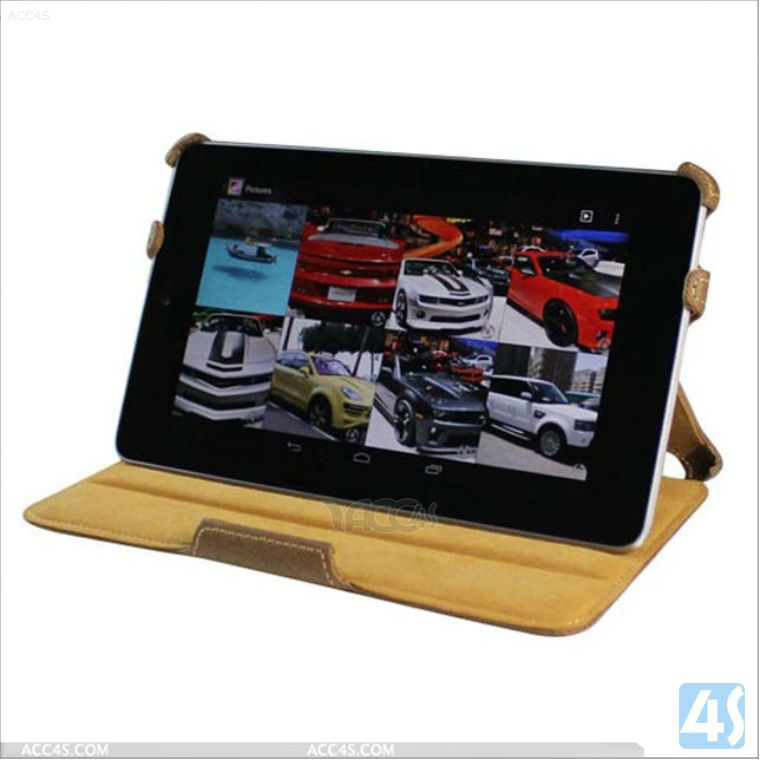 Hand Holder Stand Tablet Leather Case for Google Nexus 7 P-GGNEXUS7CASE018