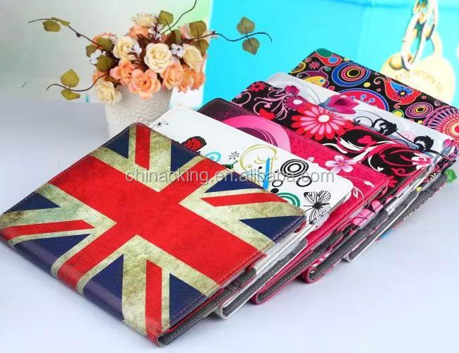 Printing PU Leather 360 Rotating Stand Case Cover For iPad 234/ Mini 1234 / Air 1 2 /Pro 9.7