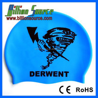 Waterproof premium silicone swim hats and caps for men