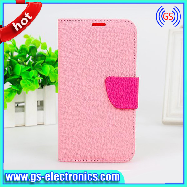 cover for samsung monte s5620 Candy color Wallet Leather case for Galaxy S5 leather case