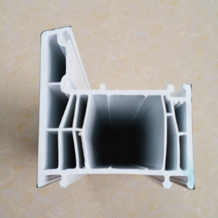 70mm Series 6 chambers quality plastic window frame profile dark green coextrusion upvc profile for windows and doors