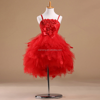 OEM custom sleeveless flower cheap little girl pageant dresses