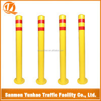 New inventions 90 cm yellow coating street, road, parking,safety metal barrier bollard