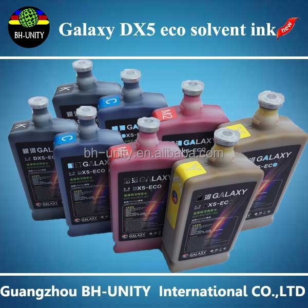 Wholesale china factory Galaxy dx5 eco solvent ink/eco-solvent ink for Dx5/Dx4/DX7 printer head