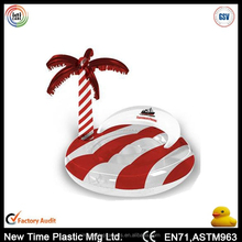 Inflatable beach pool floating toy palm tree island.