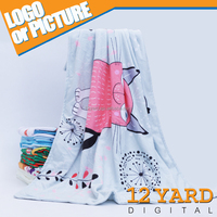Promotion Cute Double Side Printed Custom Electric Fleece Customize Blanket