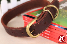 High Quality Pet Supplies Making Leather Dog Collars Gold Pin Buckle