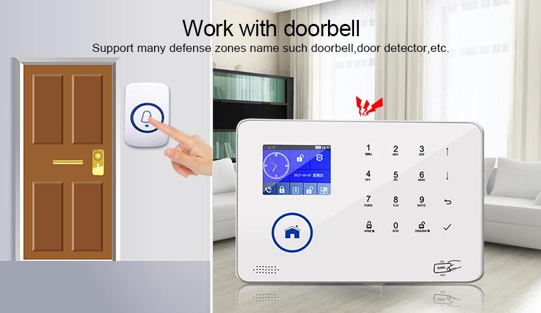 External IP cameras house wifi alarm system 3g camera + panel alarm system