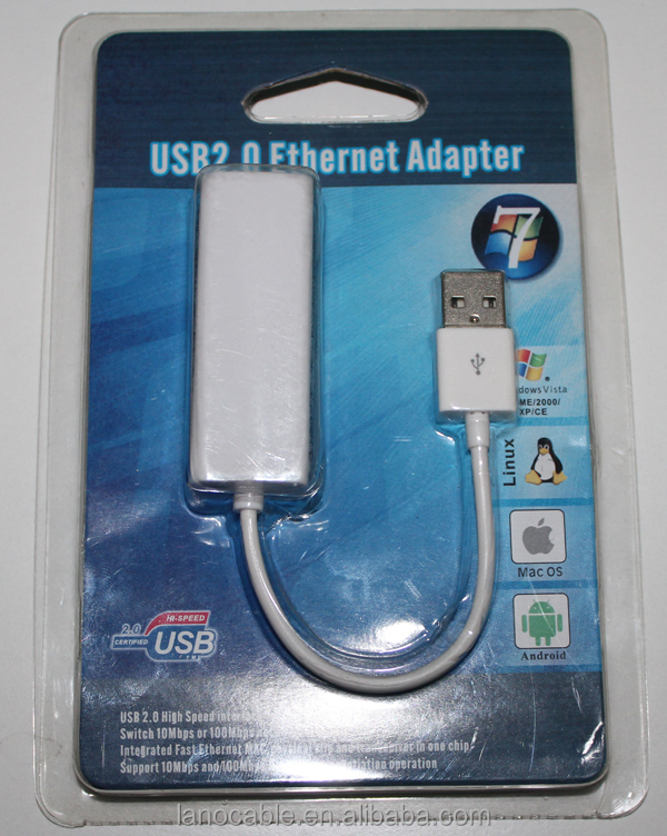 Laptop 10/100m usb2.0 to rj45 ethernet conveter adapter