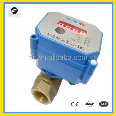 TF CWX-15 2 way timer control valve electric control 9v 12v 24v with brass and stainless steel for air compressor timing drain e
