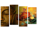 Golden Joss Picture Canvas Prints Blessing from Merciful Buddha Chinese Style Printed Art Wholesale Ready to Hang