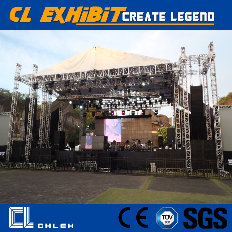 Concert 760mm x 600mm Aluminum Stage Roof Truss With Wings