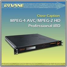 HD Professional IRD with MPEG2 MPEG4 AVC H.264 Decoder CI Slot Tuner IP TS in Analog Digital Audio Video dvb-s2/s