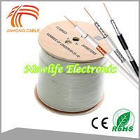 Hot Sell Low Loss RG6 tri shield coaxial cable White 1000ft