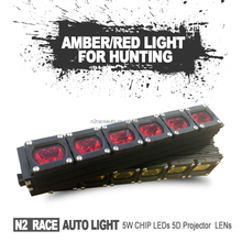 Auto Accessaries Single Row Square Offroad LED Light Bar Amber / Red Color Lighting Truck 4x4 ATV UTV