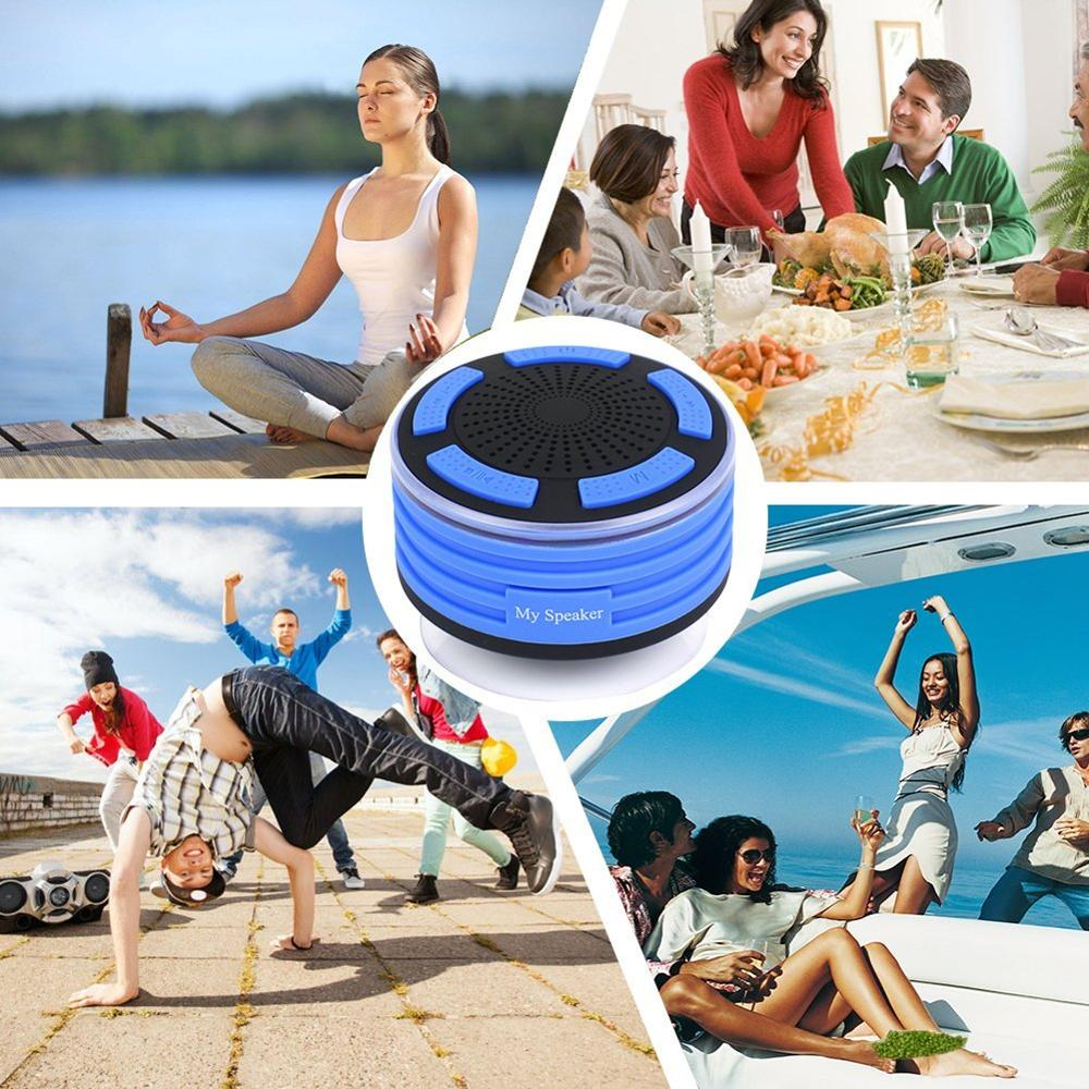 2017 latest gadgets LED IPX7 waterproof bluetooth speaker for shower