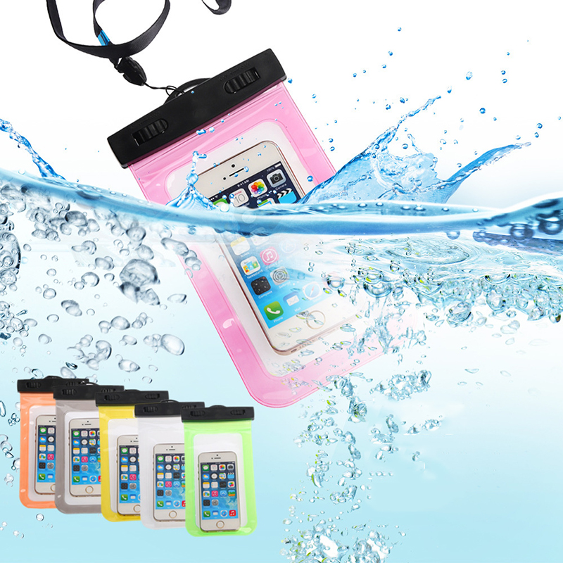 Convenient waterproof phone bag fit for under 5.5 inch mobile