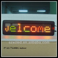 P7.62-7x40RG colors indoor programed led display panel price