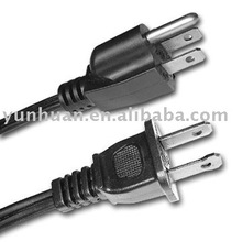 AC fan power cord electric wire for fan American market
