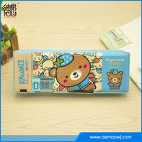 Multifunctional customizable double sided position promotional pencil case