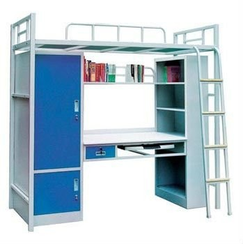 Furniture Bedroom Student Metal Bunk Bed With Computer Desk - Buy