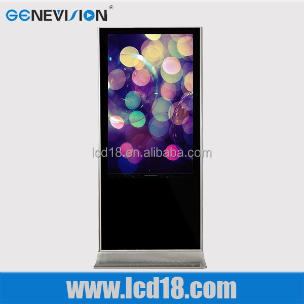 46 inch full hd LCD screen advertising display for bank/market/hotel indoor application