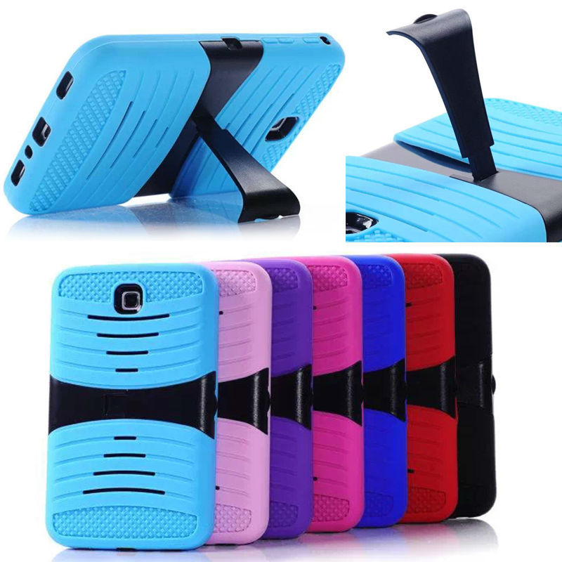 robot protective PC Silicone Case for Samsung Tablet 4, hard back case for samsung tablet 4