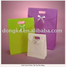 Solid Color Plastic Tab Top Box Bags