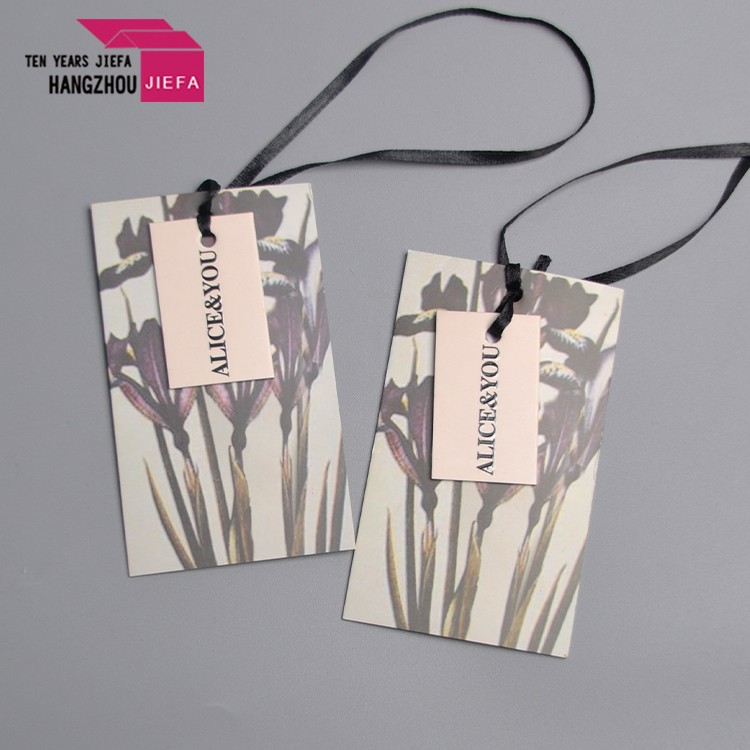 Factory sale clothing tag new design 400gsm thickness recycled paper hang tag