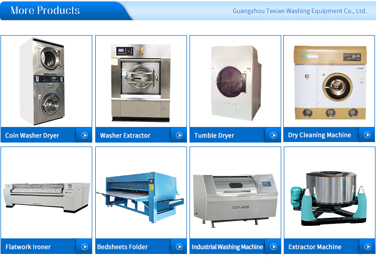 factory price hot selling commericial washer and dryer 15kg used in dry cleaning shop