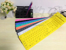 CE/FCC/ROHS Bluetooth keyboard Silicone keyboard for PC/desktop/laptop